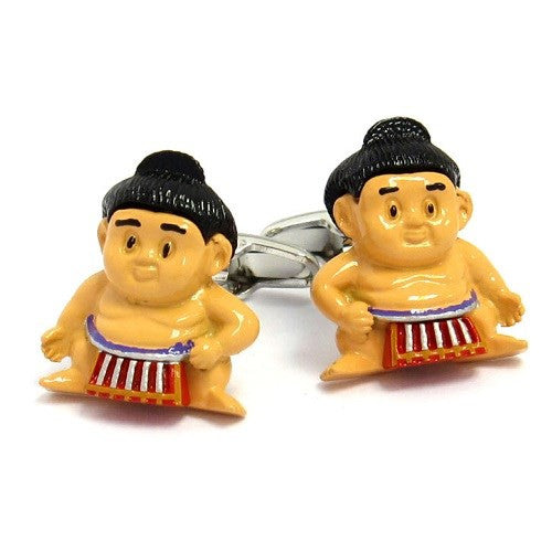 Sumo Wrestler Asian Cufflinks