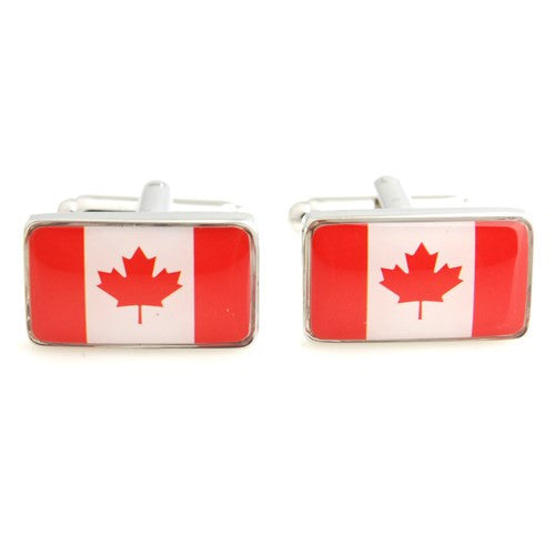 Canada Maple Leaf Flag Cufflinks