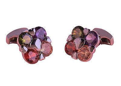 Multi Colored Gem Cufflinks