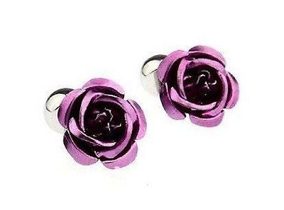 Purple Rose Cufflinks