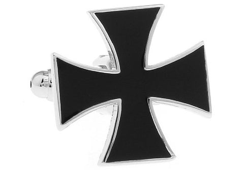 Black Iron Cross Cufflinks
