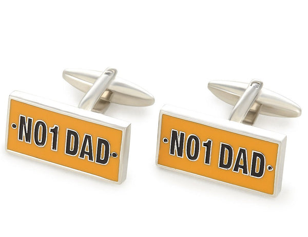 Number 1 Dad Fathers Day Cufflinks