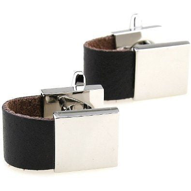 Black Wrap Around Cufflinks