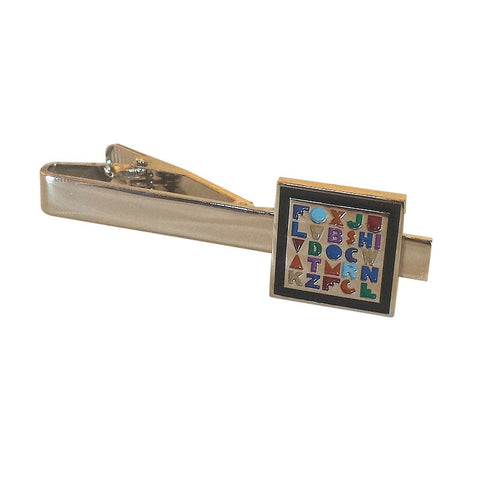 Teacher Alphabet Tie Clip