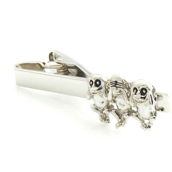 3 Wise Monkeys Tie Clip