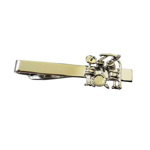 Drum Set Drummer Rock N Roll Tie Clip