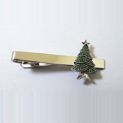 Christmas Tree Santa Claus Winter Tie Clip