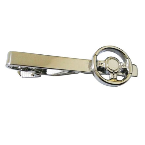 Steering Wheel Car Racer Tie Clip
