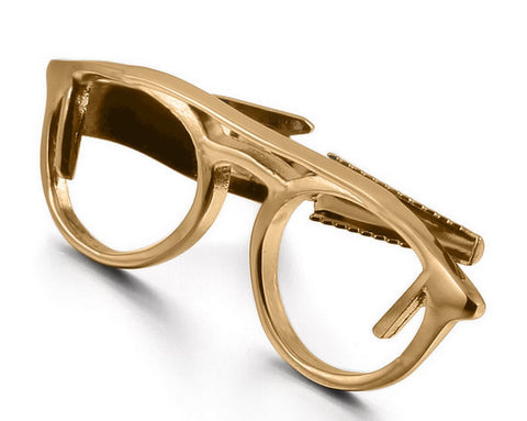 Glasses Tie Clip Gold Optical