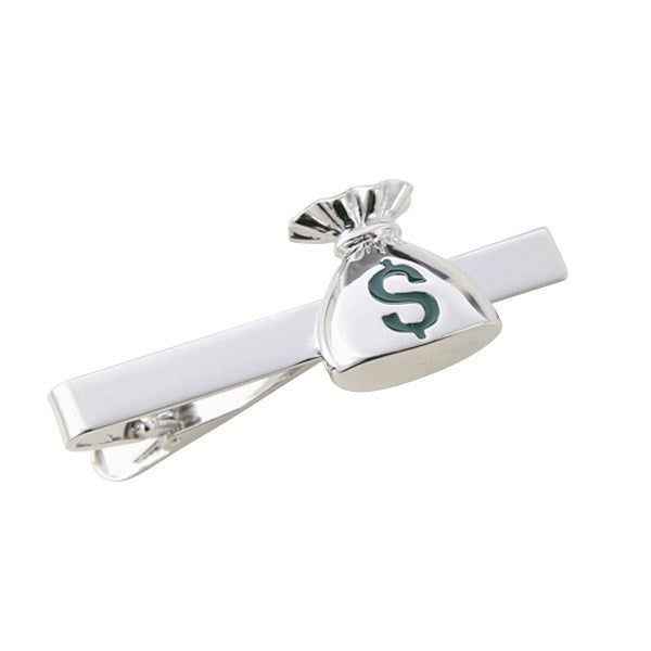 Money Bag Dollar Tie Bar Clasp