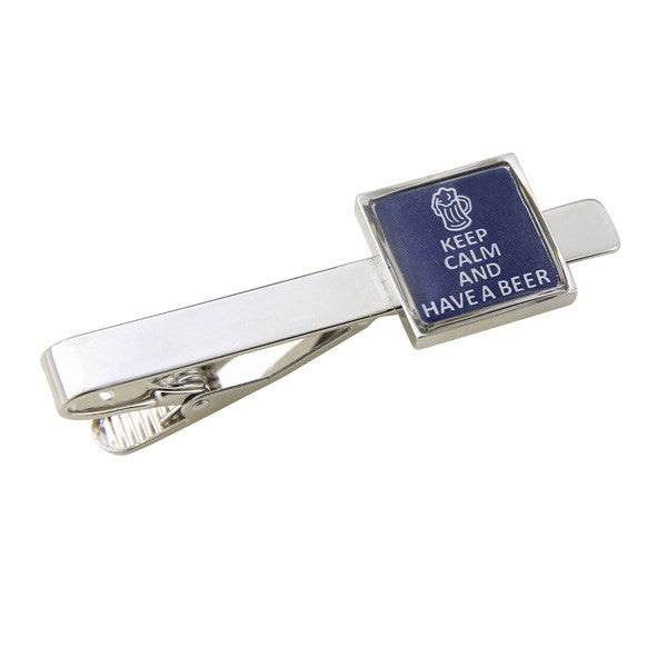 Keep Calm Have A Beer Tie Bar Clasp