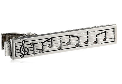 Music Note Musician Clasp Tie Clip Bar