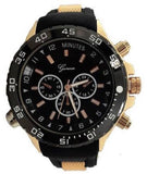 Rose Gold Black Metal Oversized Sport Watch