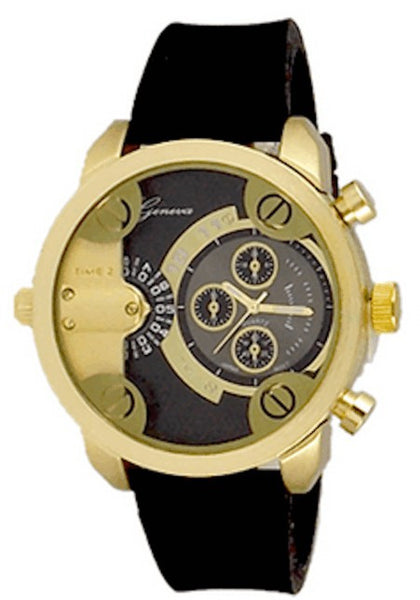 Gold Black (Little Daddy Style) Watch