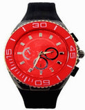 Red Metal Oversized Sport Watch