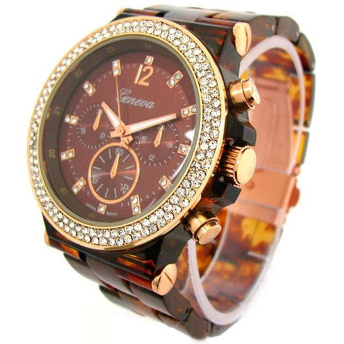 Tortoise Rose Gold Fashion Watch