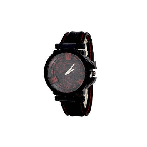 Mens Red Black Watch