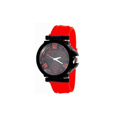 Mens Black Red Watch