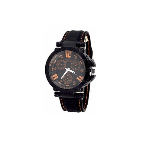 Mens Orange Black Watch