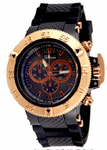 Rose Gold Black Watch
