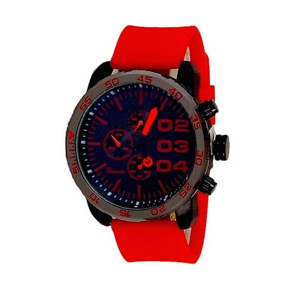 Red Black Mens Watch w/ Diesel Cologne