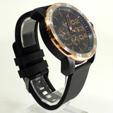 Rose Gold Black Mens Watch w/ Diesel Cologne