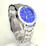 Silver Blue Mens Watch