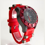 Oversized Red Mens Fashion Watch