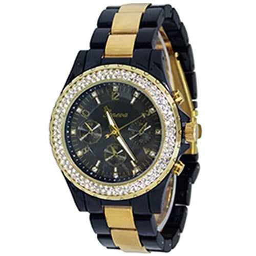 Black Gold Crystal Watch