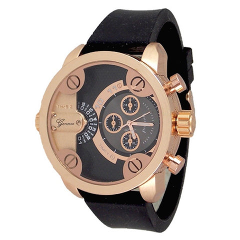 Rose Gold Black (Little Daddy Style) Watch