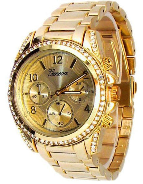 Gold Bezel Watch