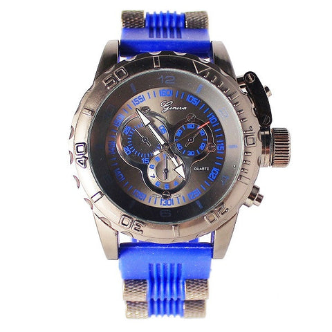 Blue Black Mens (Invicta Style) Watch