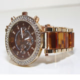 Rose Gold & Tortoise Shell Watch