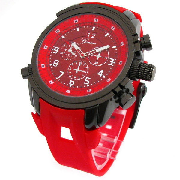 Red Gun Geneva Round Watch