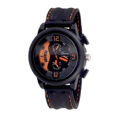 Black Orange Sports Watch