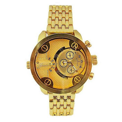 Dual Time Gold Watch