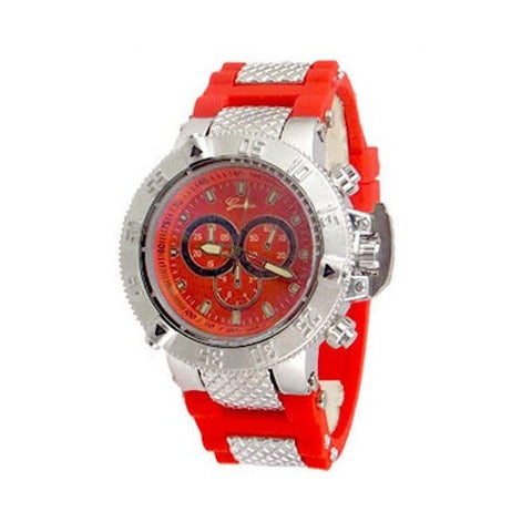 Red Silver Oversized Mens