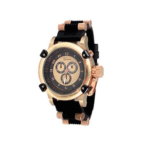 Black Rose Gold Designer Watch
