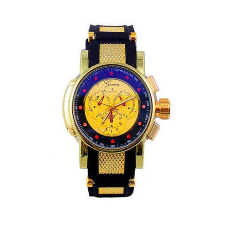 Gold Black Oversized Mens Watch