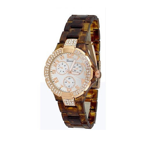 Tortoise Rose Gold Fashion Womens Watch
