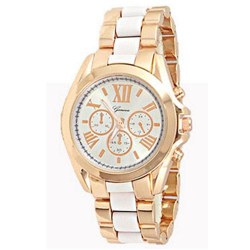 Rose Gold White Watch