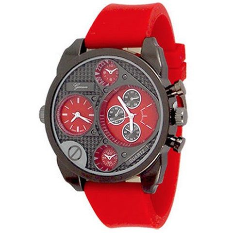 Dual Time Red Black Watch