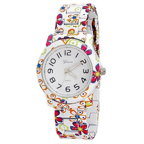 Flower Multi Color Watch