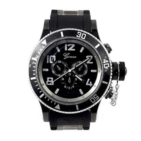 Black (Invicta Style) Watch