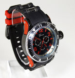 Red Black (Invicta Style) Watch