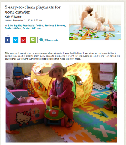 BabyCenter 5 easy-to-clean playmats for your crawler
