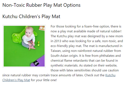 Kutchu Play Mat on Healthy Choices Happy Tots