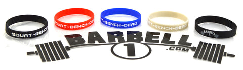 Squat, Bench, Dead Wristbands