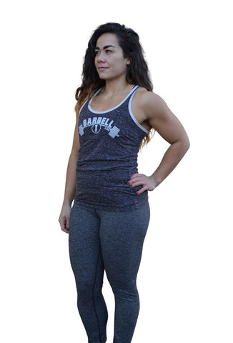 Ladies Soft Tri-Blend Racerback Gym Tank Top