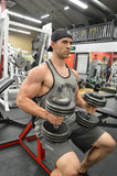 No Nip Slip Muscle Stringer Y Back Tank Top, Lifting Shirt for Gym